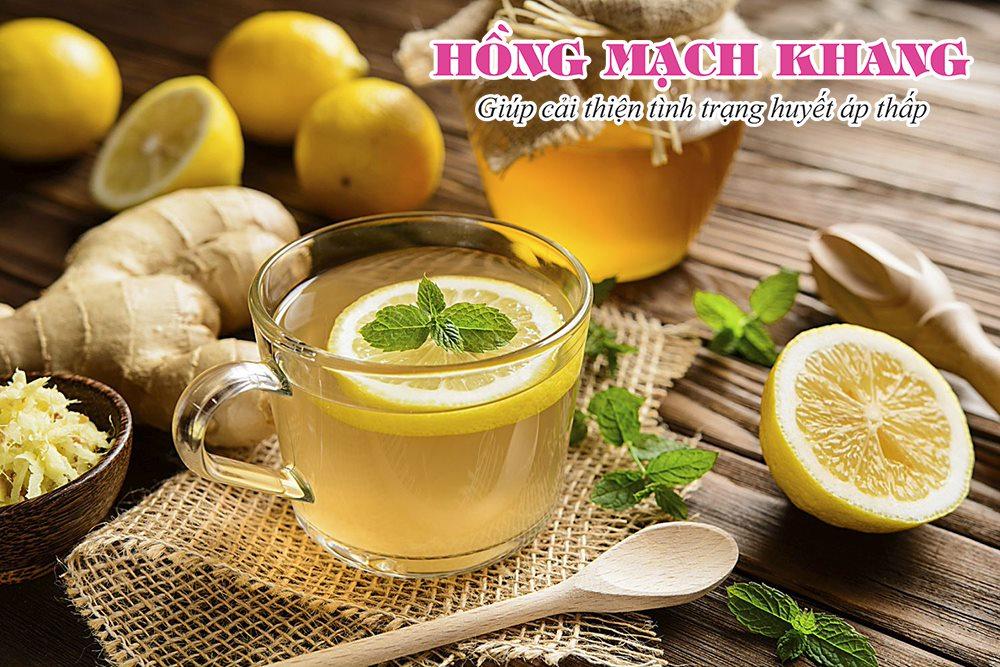 Khi bị tụt huyết áp nên uống một ly trà gừng